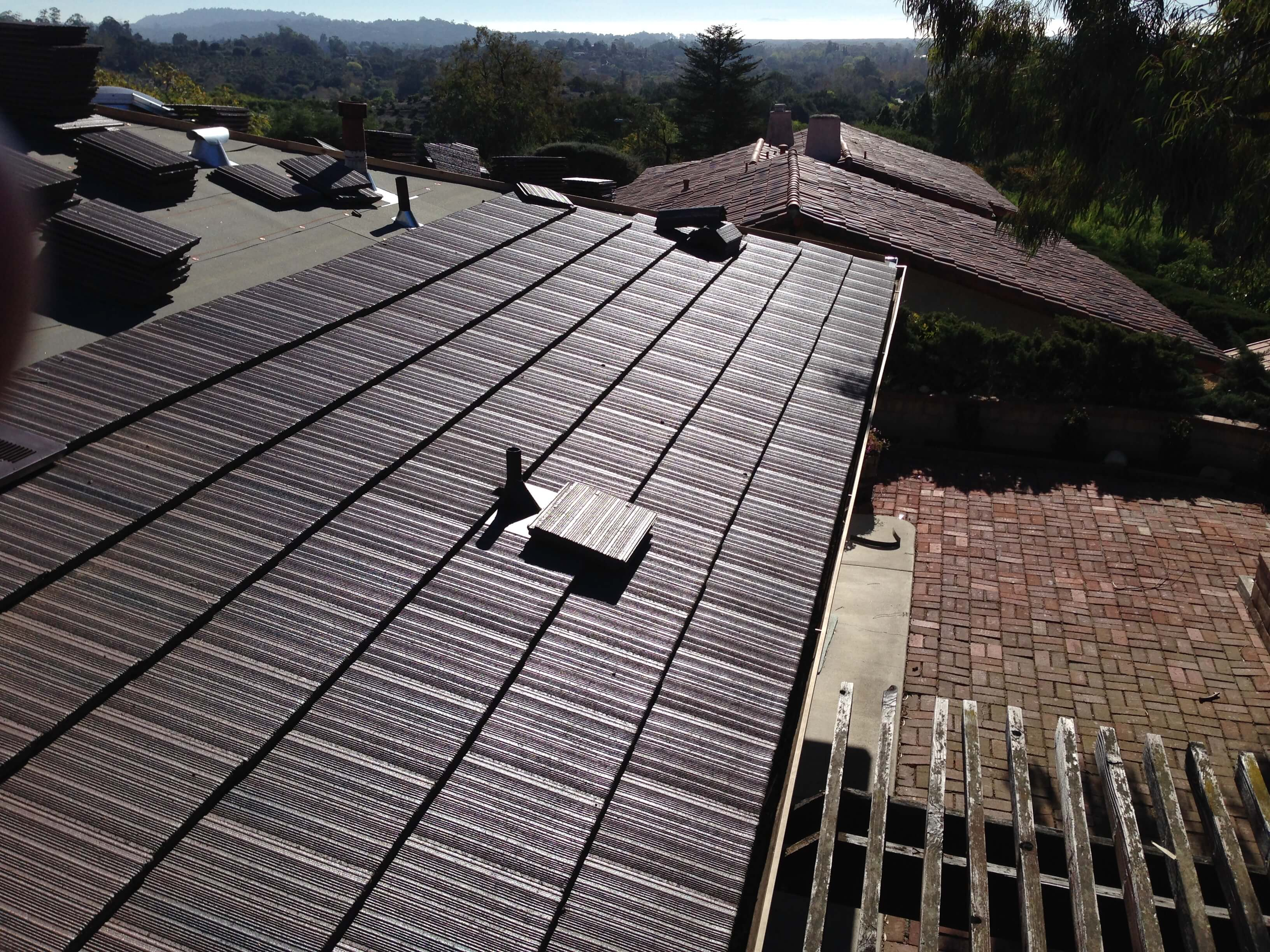 Santa barbara roofing system examples by quality roofing for Flat tile roof