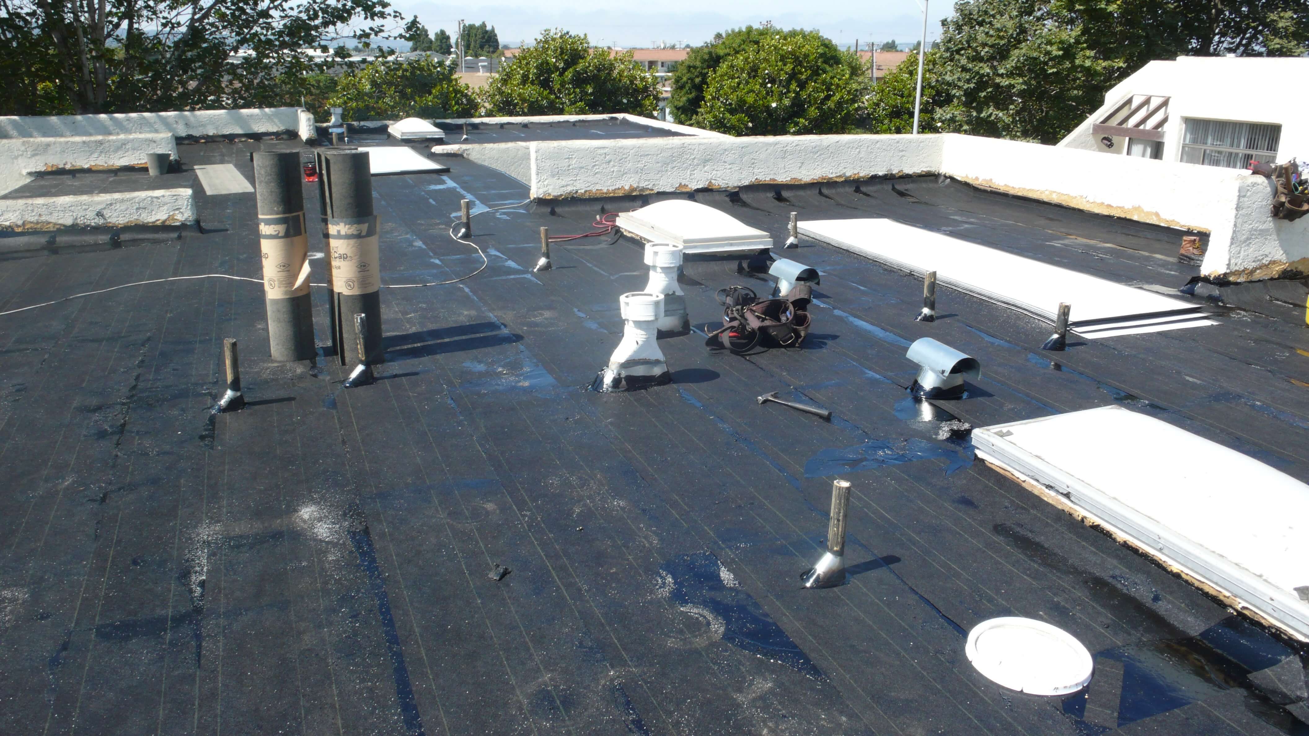 Torch Down Roofing System Installation