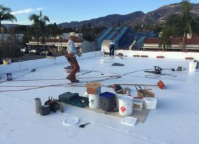 PVC System Flat Roof Installation